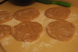 Pitas ready for the oven
