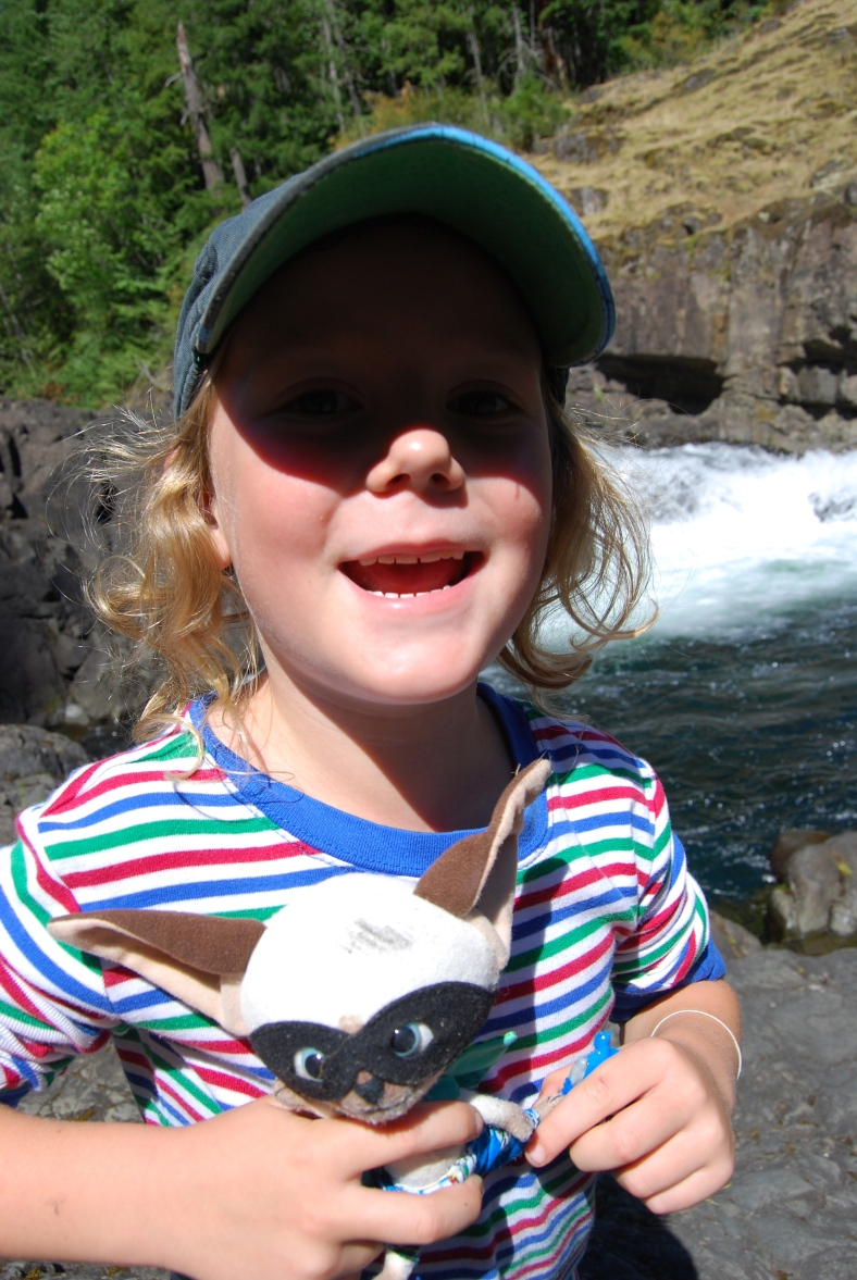 Ben and his friend's toy, Skippy Jon Jones, who took a tour of the Pacific Northwest with us.