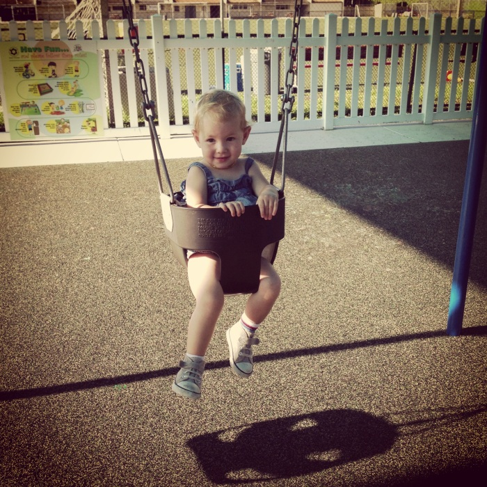 Ella in the swing