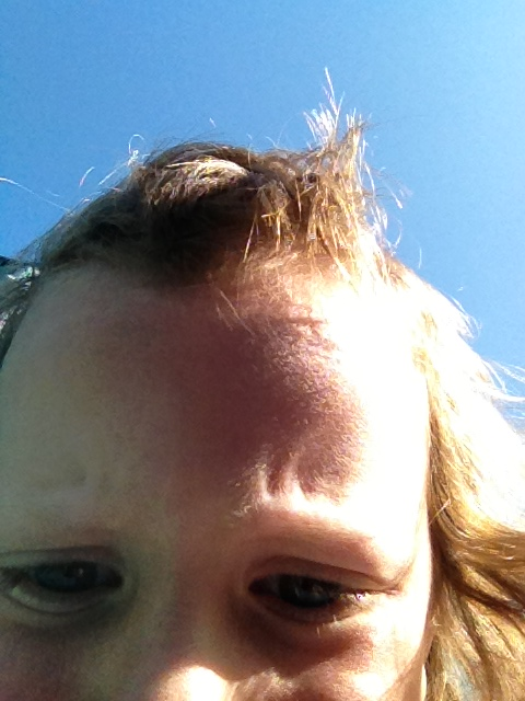 Hahaha he got ahold of my phone! I love kid self portraits.