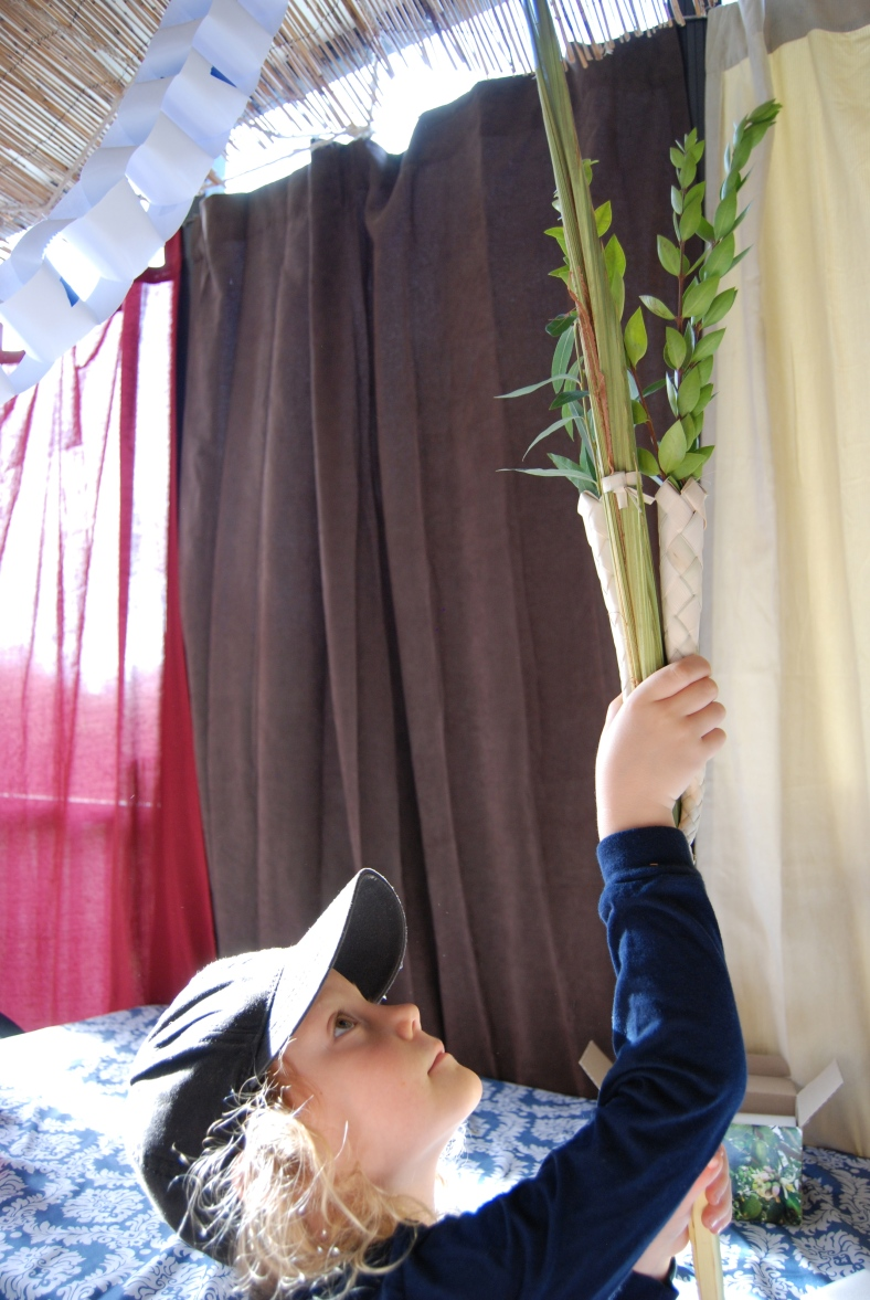 Ben shaking the lulav.