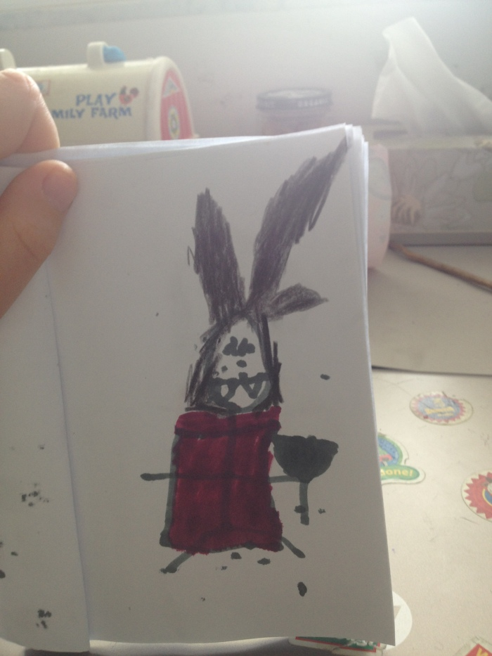 Vampire, seemingly with rabbit ears and a plunger...
