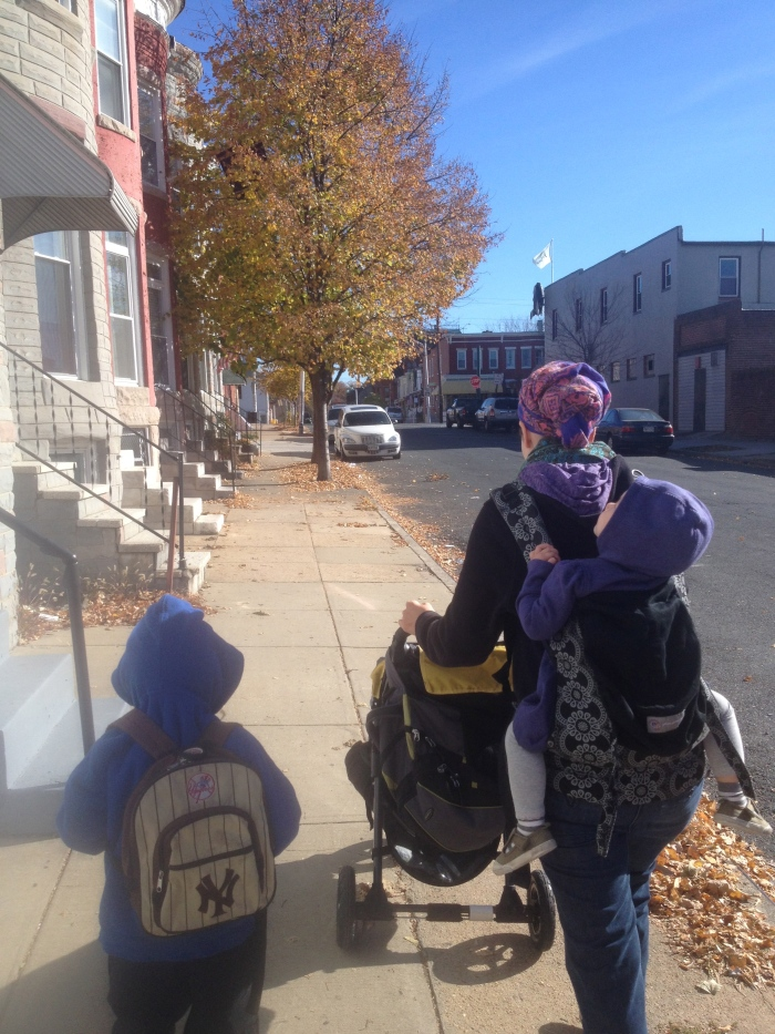 We have some great friends who have recently moved from Iceland to Baltimore and we were able to have a quick visit with them on our way to the conference. We enjoyed walking through the hip part of town, drinking coffee and watching our kids experience the chilly fall weather.