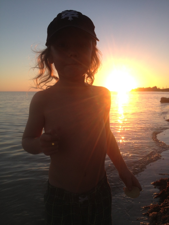 Ben when we were camping in the Keys a while back. I love this photo.