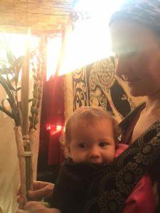 Enjoying Sukkot close to Ima's heart.